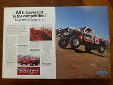 1987 FORD RANGER pick up truck BAJA off road magazine ad Supercab GT 1986 V6 4x4