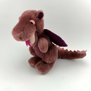 "Vintage R. Dakin Purple Dragon Plush 10"" Stuffed Animal 1983"