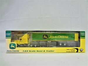 PRECISION 2003 KENWORTH CAB AND TRAILER 1/64 JOHN DEERE GEARBOX TOYS DIECAST