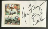 JOE FERGUSON NFL Buffalo Bills Football Auto Autographed Signed 3x5 Index Card