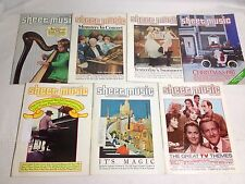 Sheet Music Magazine Lot of 7 Issues Easy Organ Year 1985 March-December Vintage