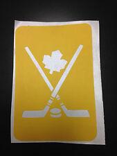 Canadian Maple Leaf Hockey Sticks & Puck stencil for Airbrush Tattoo craft Art