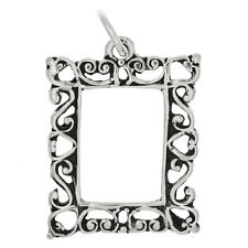 STERLING SILVER PICTURE FRAME CHARM OR PENDANT