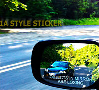 OBJECTS IN THE MIRROR Auto Aufkleber shocker jdm oem style spiegel Sticker 222