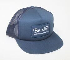 3c4f741091a Brixton Grade Mesh Trucker Hat Snapback Cap Hat Light Blue Navy New