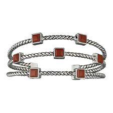 Montana Silversmiths Redstone Canyon Pebbles Jasper Stones Triple Cuff Bracelet