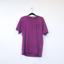 100% authentic STONE ISLAND classic short sleeve tshirt purple tee black logo S