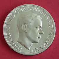 EDWARD VIII 1936 NICKEL SILVER PROOF PATTERN GEORGE & DRAGON CROWN - coa
