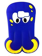 Dark Blue Octopus / Squid Soft Silicone Case for Samsung Galaxy Ace Duos S6802