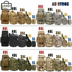 5L/8L/35L/40L/80L Tactical Outdoor Military Trekking Backpack Camping Hiking Bag