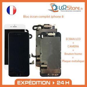 Bloc écran complet IPhone 8 Vitre tactile + LCD + Caméra frontale + bouton home