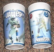 2002 Indianapolis Colts Stadium Hologram Cups LOT Edgerrin James Marvin Harrison
