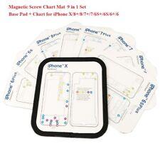 9 in 1 Set Magnetic Screw Chart Mat Repair Guide Pad for iPhone X 8 7 6S 6 Plus