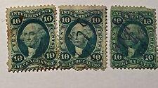 Us Stamp Revenue Scott #R32C 36C And 37C