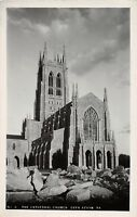 D64/ Bryn Athryn Pennsylvania Pa Real Photo RPPC Postcard c30s Cathedral Church4