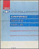 1990 Camaro Shop Manual 90 Chevy Z28 Z 28 Berlinetta Repair Service Original OEM