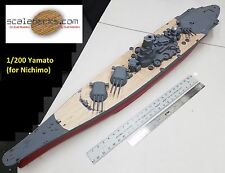 Wood Deck for 1/200 Yamato fits classic Nichimo kit by Scaledecks.com