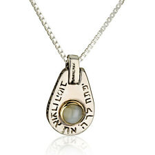 necklaceThe Treasure of Kabbalah 14K G & silver 925 with 5 mm  Chrysoberyl stone