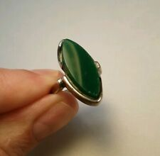 Jade & Sterling Silver Mexico 925 Vintage Estate Jewelry Ring Size 5.5