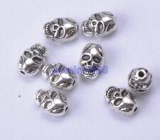 20pcs  Tibetan silver Charm Skull Spacer Beads 10mm  F740
