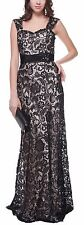 Women's Formal Embroidery Rhinestones beaded Long Evening Gown prom dress