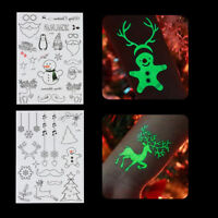 Tattoo Glow In The Dark Christmas Fluorescent Temporary Tattoos Sticker Body Art