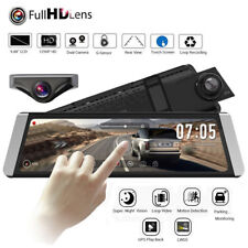 X1 9.88�€™�€™ Dual Lens Car DVR Rear View Mirror Dash Cam Recorder + Backup Camera