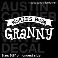 "6.5"" World's Best Granny vinyl decal car window laptop sticker Grandmother gift"