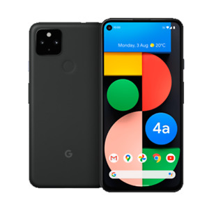 Google Pixel 4a 5G 128GB (Unlocked) Single eSIM 6.2in 12.2MP 6GB RAM Just Black