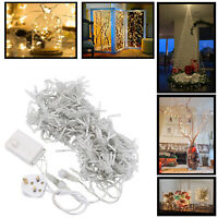 Fairy String Light Curtain Hanging Backdrop Wall Lights Garden Xmas Party Decor