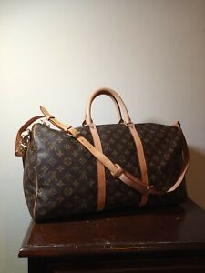 Louis-vuitton bandouliere keepall 50  Teavel Bag Monogram 41414 TH 1018