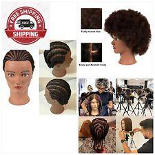 Afro Kinky Curly Hair Mannequin Head with 100% Human Hair Hairdresser Manikin Tr