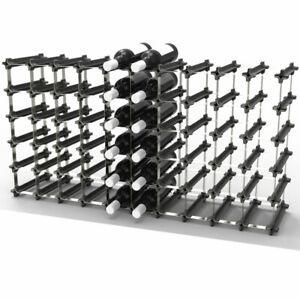 NOOK 50/60 Bottle Self Assembly Wine Rack (Black)