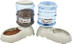 YGJT Automatic Pet Feeder Cat & Dog Food & Water Dispenser 2 Pack 3.75L Feeders