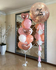 Globo de Oro Rosa Confetti Boda Novia comprometido Corazón Cumpleaños Melocotón Rosa