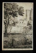 Gravure originale 1818 Bourgeois sc  vue de l'Abbaye Saint Victor à Marseille