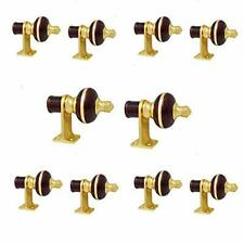 Curtain Finials with Supports - Pack of 10 Pcs Finials 5 Pair Mahroon