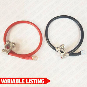 Battery Lead Power Strap Earth Bond Leisure Cable Leads - 16mm2 - 50mm2 Terminal
