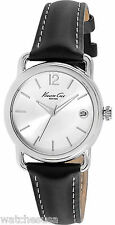 Kenneth Cole KC2817 New York Silver Dial Leather Strap Women's Watch