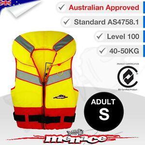 ADULT SMALL Life Jacket - Foam Type 1 Lifejacket Vest PFD Level 100