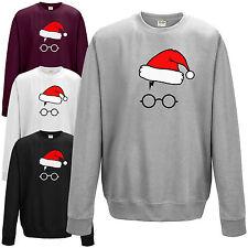 Harry Glasses Santa Hat Sweatshirt - Lightning Scar Wizard Christmas Jumper Top