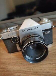 Ricoh singlex Camera TLS with petri lens 2.8/50