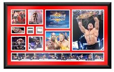 *WWE BROCK LESNAR WRESTLEMANIA 33 COMMEMORATIVE SIGNED PLAQUE LIMITED EDIT. NEW*