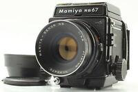 [Exc+5] Mamiya RB67 Pro S Sekor C 127mm f/3.8 Lens Hood 120 Film Back From JAPAN