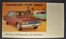 1963 Rambler Brochure Folder Ambassador Classic American AMC Nash Brown Original