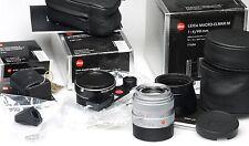 Leica Macro-Elmar-M 90mm F4 Macro Adapter M Winkelsucher M 11634 Silver 6Bit NEW