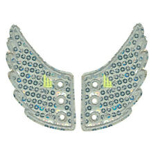 SHWINGS Silver Sequin wings for your shoes official designer  shwings NEW 10408