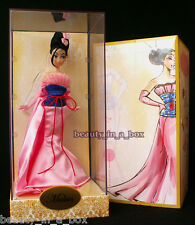Mulan Princess Disney Designer Doll Collection ~ A Disney Store Exclusive  LE