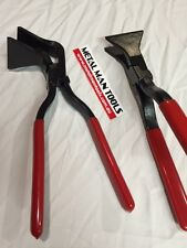 STRAIGHT & ANGLE SEAMING PLIERS, METAL FABRICATION, WELDING, HOTROD, WELDING