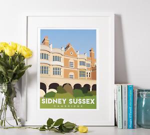 Sidney Sussex College - University of Cambridge - Original Art Print A4